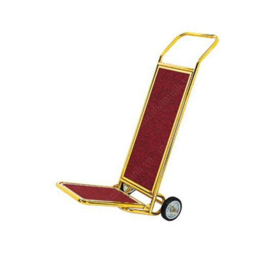 Xe đẩy hành lý khách sạn chữ L mạ vàng