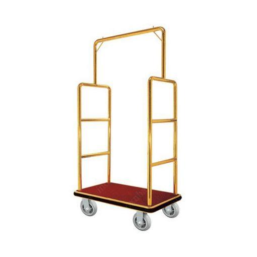 Xe đẩy hành lý inox mạ vàng