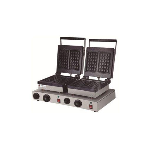 Máy làm bánh Waffle vuông đôi (Đĩa nhôm) ZH-802