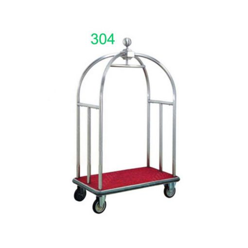 Xe đẩy hành lý inox trắng TS11X01-304