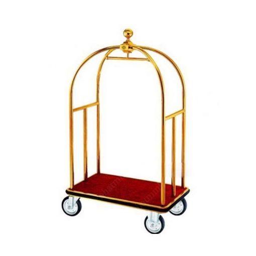 Xe đẩy hành lý inox mạ vàng TS11X01-V