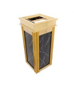 Thùng rác inox vuông đá hoa cương TS14T07