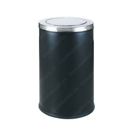 Thùng rác trang trí inox tròn nắp lật TS14T15