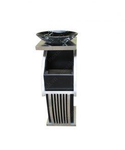 Thùng rác nắp lật vuông đĩa gạt tàn inox phun sơn TSB-028
