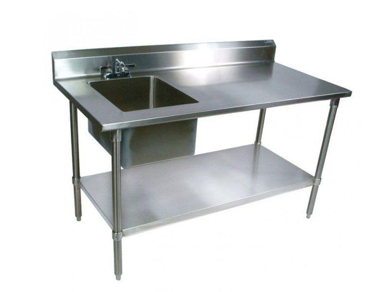 Bồn rửa được làm trực tiếp từ inox 304 nên luôn đảm bảo về độ bền theo thời gian