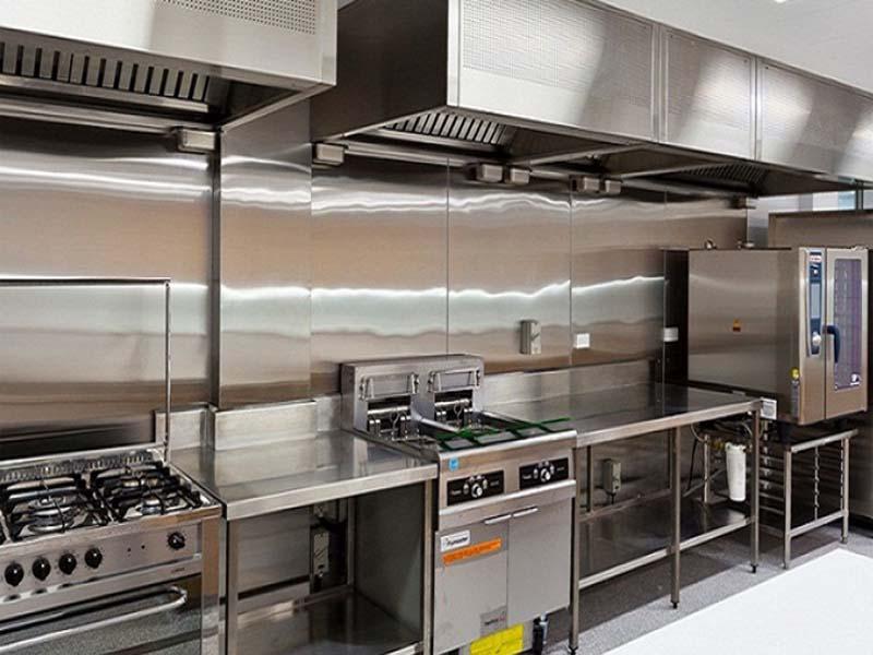 Thiết bị inox nhà bếp dễ dàng vệ sinh hơn trong quá trình sử dụng